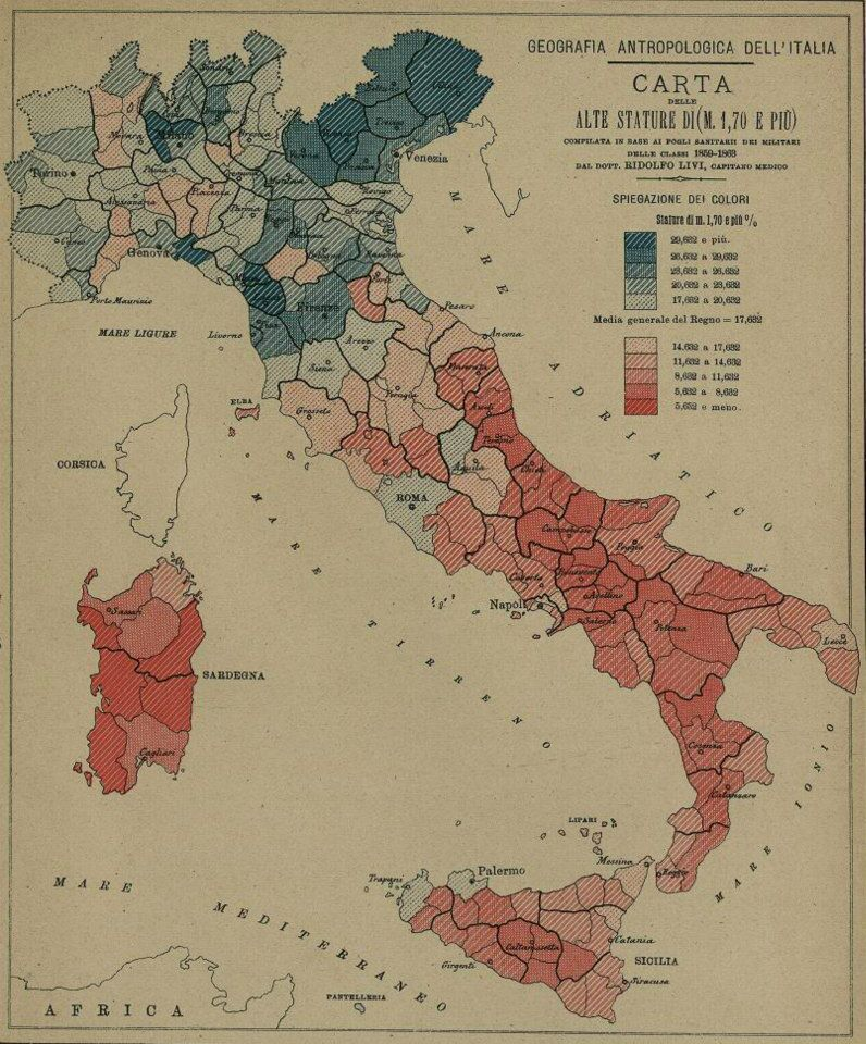 Mappa Statura Italia