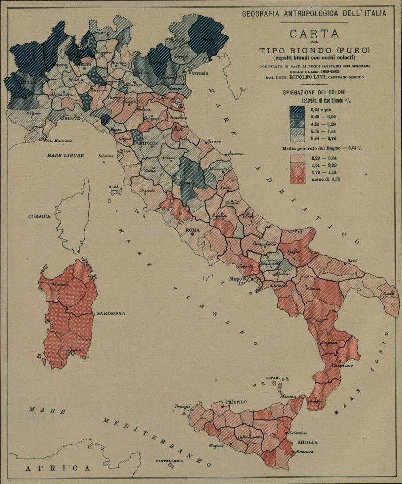 mappa italiana capelli biondi con occhi azzurri