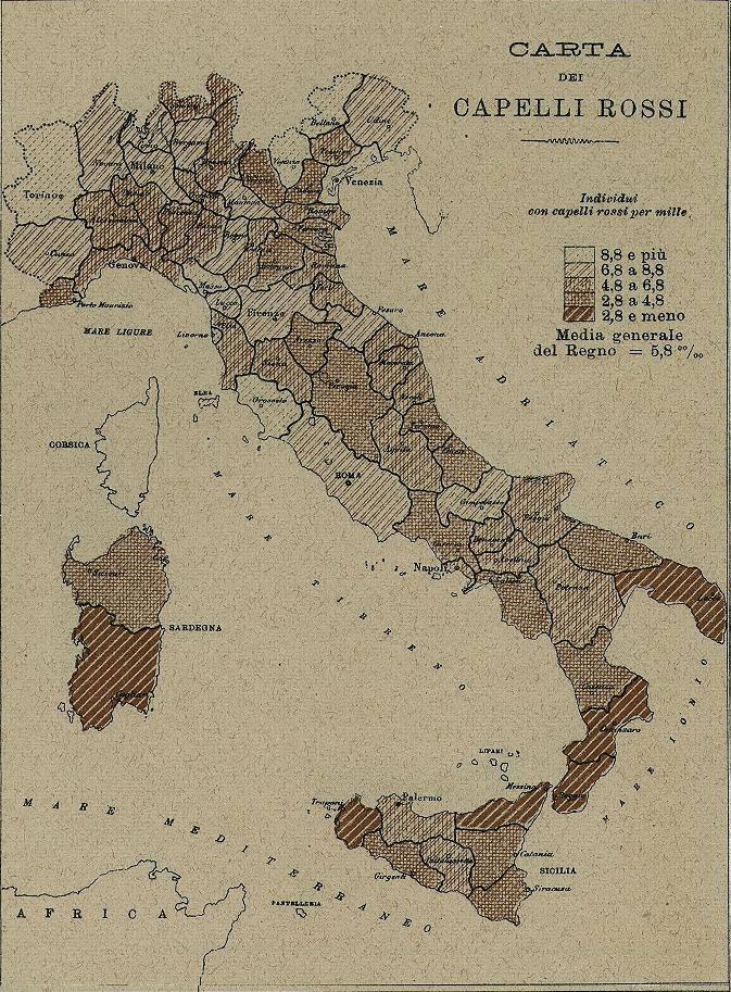 mappa italiana capelli rossi