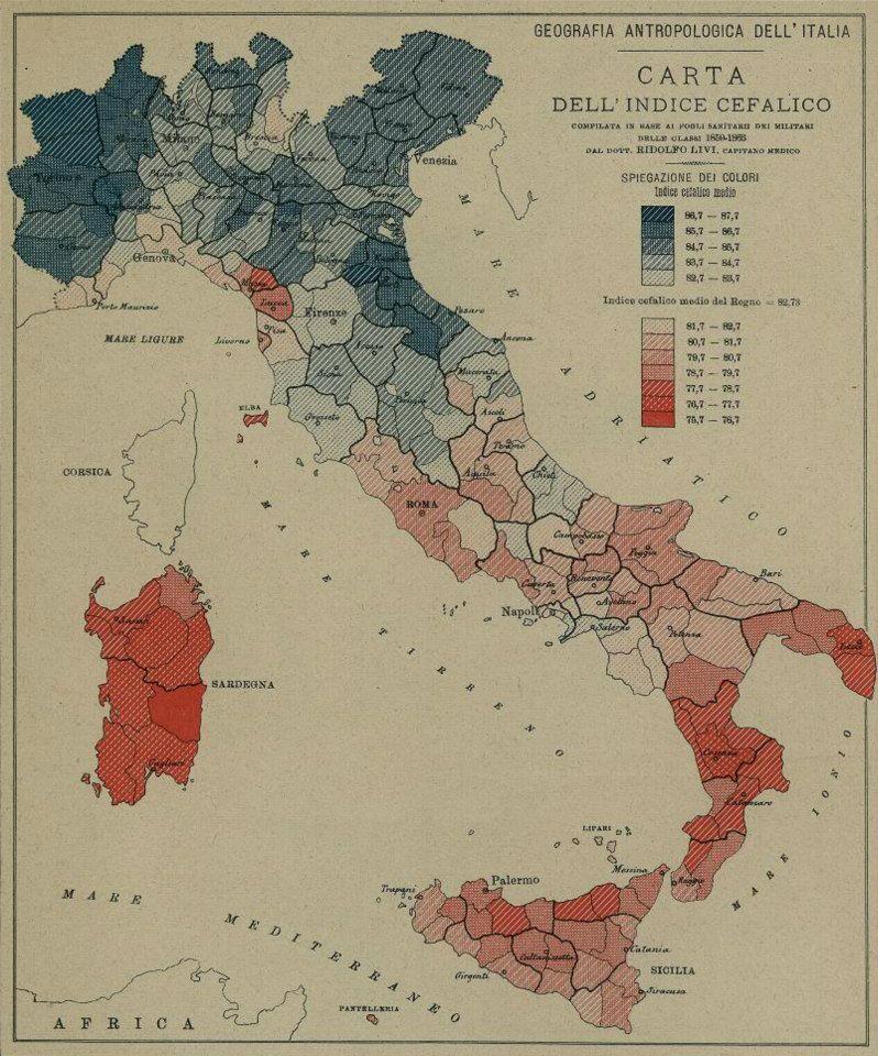 Mappa Indice Cefalico Italia